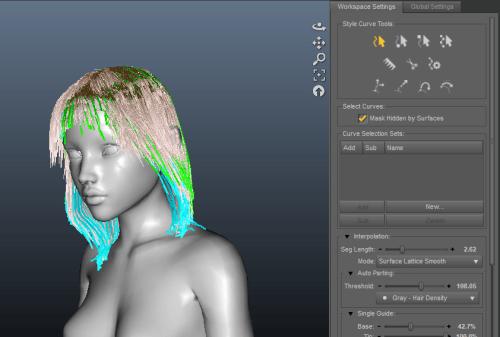 3d hair styles for 3d Models