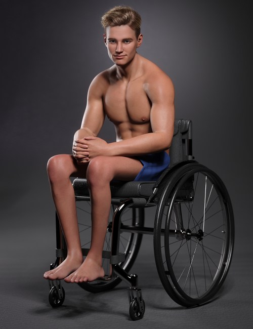 a render of Michael 8.1 sitting in his wheelchair