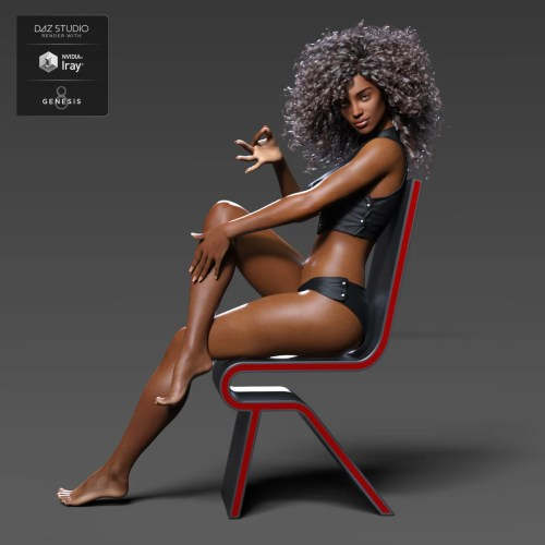 Shangrila for Genesis 3 and 8 posing on a chair