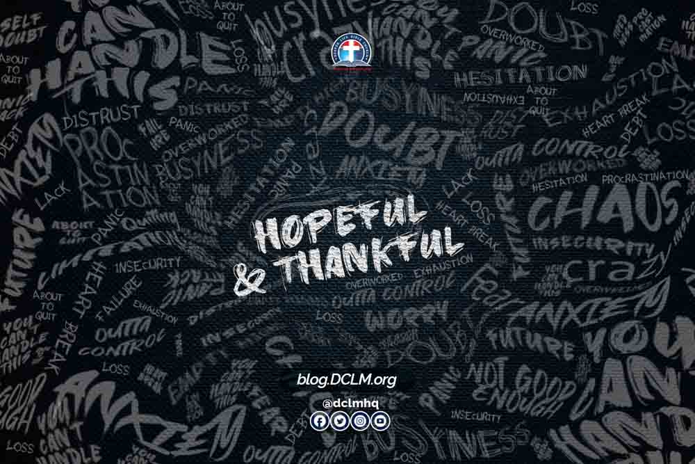 Hopeful, Thankful, Appreciative, Thanksgiving, Thank God, New Year, Attitude, Mindset,