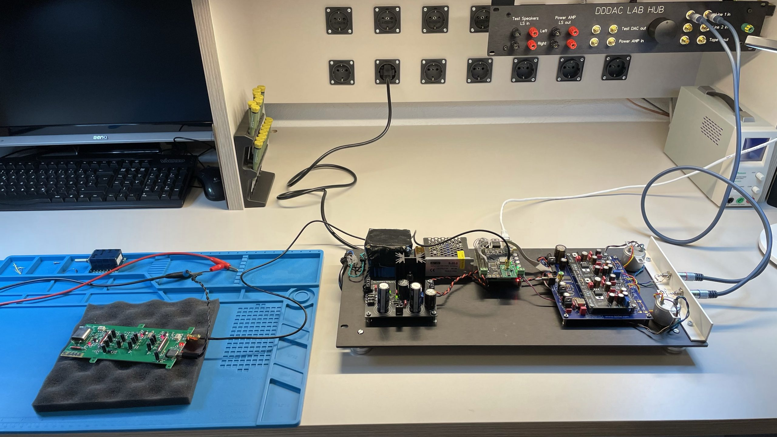 Andrea Clock Test Set-Up on DDDAC1794
