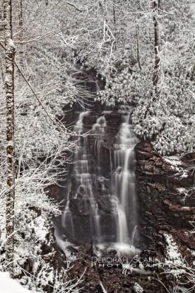 Soco Falls Snow Covered