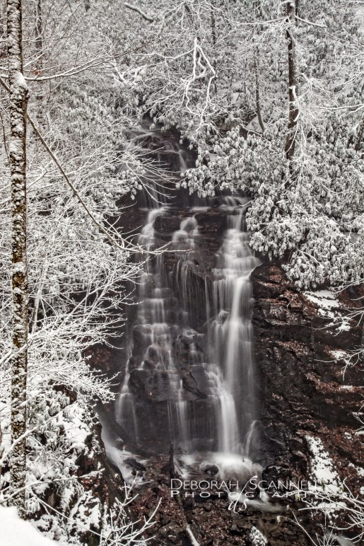Soco Falls Snow Covered