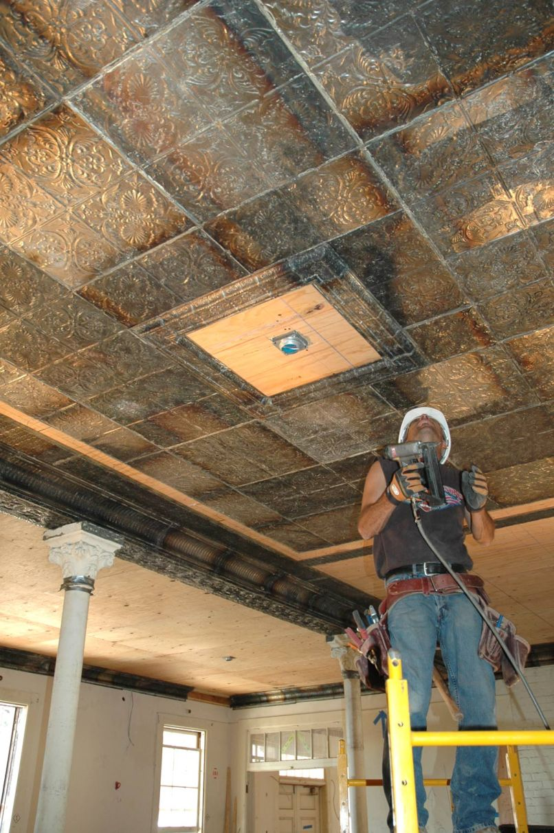 Installing tin ceiling theteenline tin ceiling tiles a brief history decorative blog dailygadgetfo Image collections