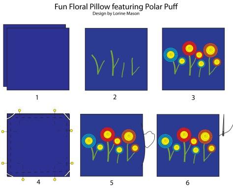 Polar Puff - Fun Floral Pillow