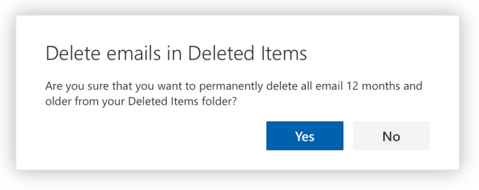 The deletion confirmation prompt.