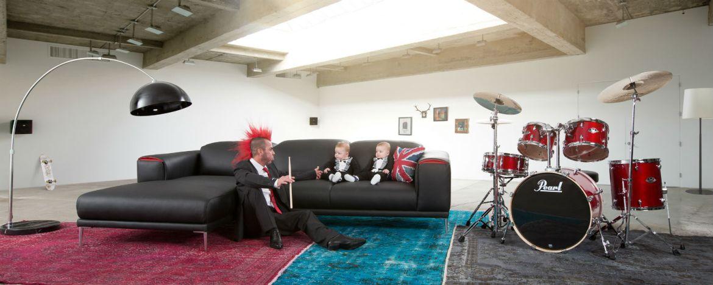 Punk, Babies, Sofa