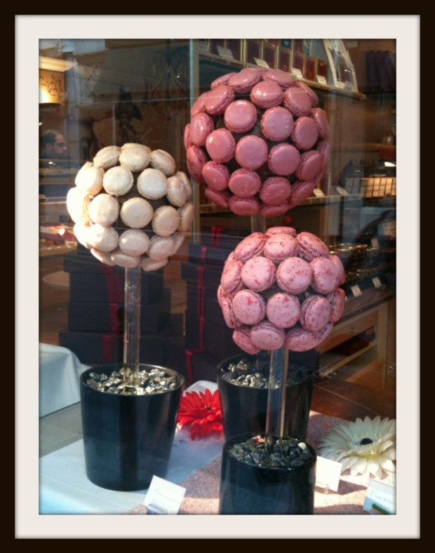 laduree macroon display