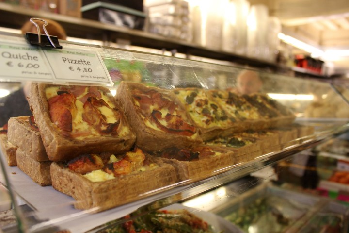 QUICHE ON COUNTER AT ROSE BAKERY PARIS