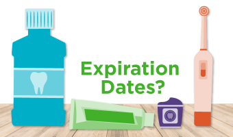 Some dental products have expiration dates and some don't. Find out what you should retire if it's expired.