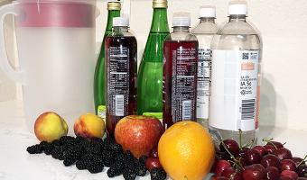 Check out how we make a healthy, satisfying non-alcoholic sangria by managing the sugar content.