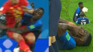 Cotovelada no jogador durante a copa do mundo