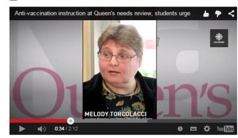 Melody Torcolacci, the Queens University #antivaxprof
