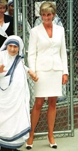Mothere Theresa and Princess Diana