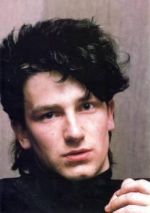 A young Bono