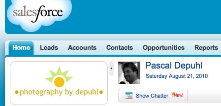 Header of my SalesForce page