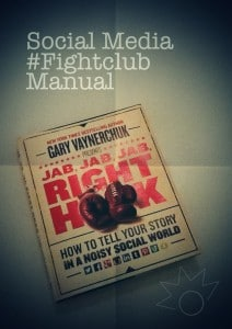 Jab, jab, jab, right hook is going to be my #SocialMedia #FightClub manual to master social media.