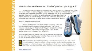 Product Photography guide page 4