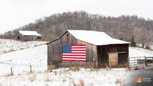 2013 11 Fine Art - Apalacha Hills of VA 14 - Snow Falling on Old Barn