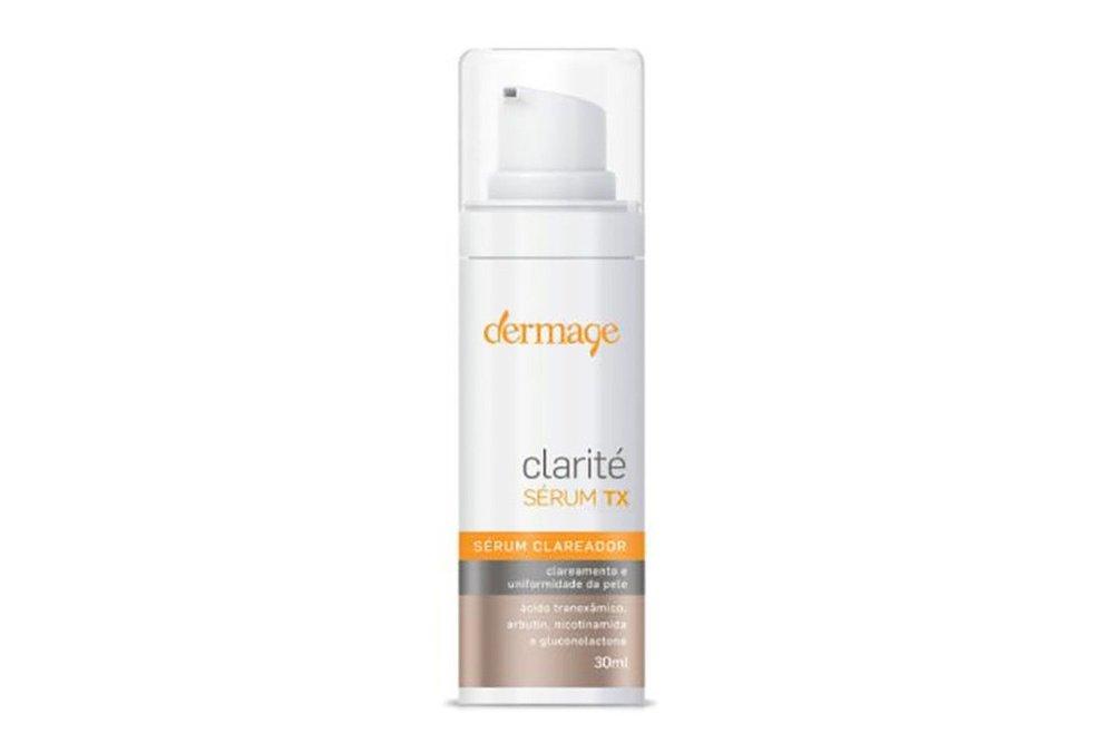 O clareador é um importante dermocosméticos para mulheres depois dos 30, esse é o Clarité Sérum TX da Dermage