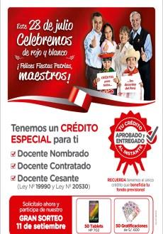 El sorteo de nuestra Campaña de Créditos de Fiestas Patrias