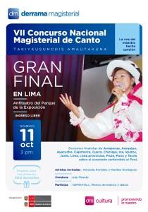 Gran Final del VII Concurso Nacional Magisterial de Canto Takiykusunchis Amautakuna
