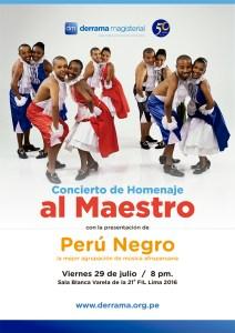 Derrama Magisterial celebra Fiestas Patrias con Perú Negro en la Feria del Libro
