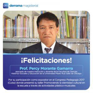 Percy Morante: Un profesor peruano que participó en el Congreso Pedagogía de La Habana, Cuba