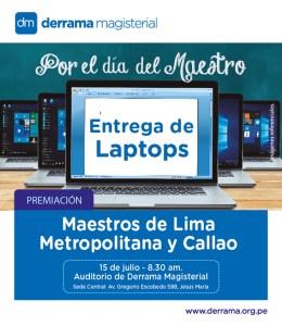 Iniciamos entrega de premios a los ganadores de las 900 Laptops sorteadas por el Día del Maestro