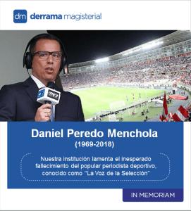 Daniel Peredo (1969-2018): Un adiós repentino
