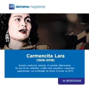 Carmencita Lara (1926-2018): Una voz inolvidable