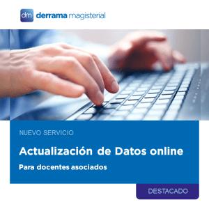 Actualiza tus Datos Online: Nuevo servicio para asociados
