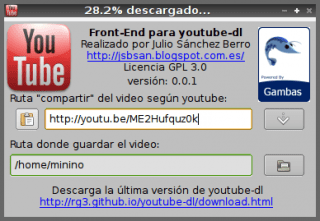 Front-End para youtube-dl con gambas3