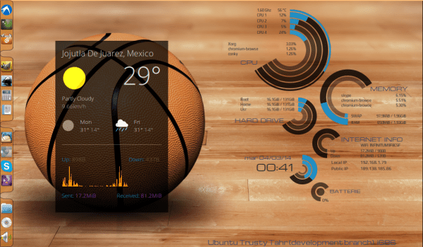 Ubuntu 14.04 + LXDE Iconos Lubuntu Tema: Zoncolor Orange Cairo Dock Conky