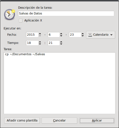 gnome-schedule-norepetir