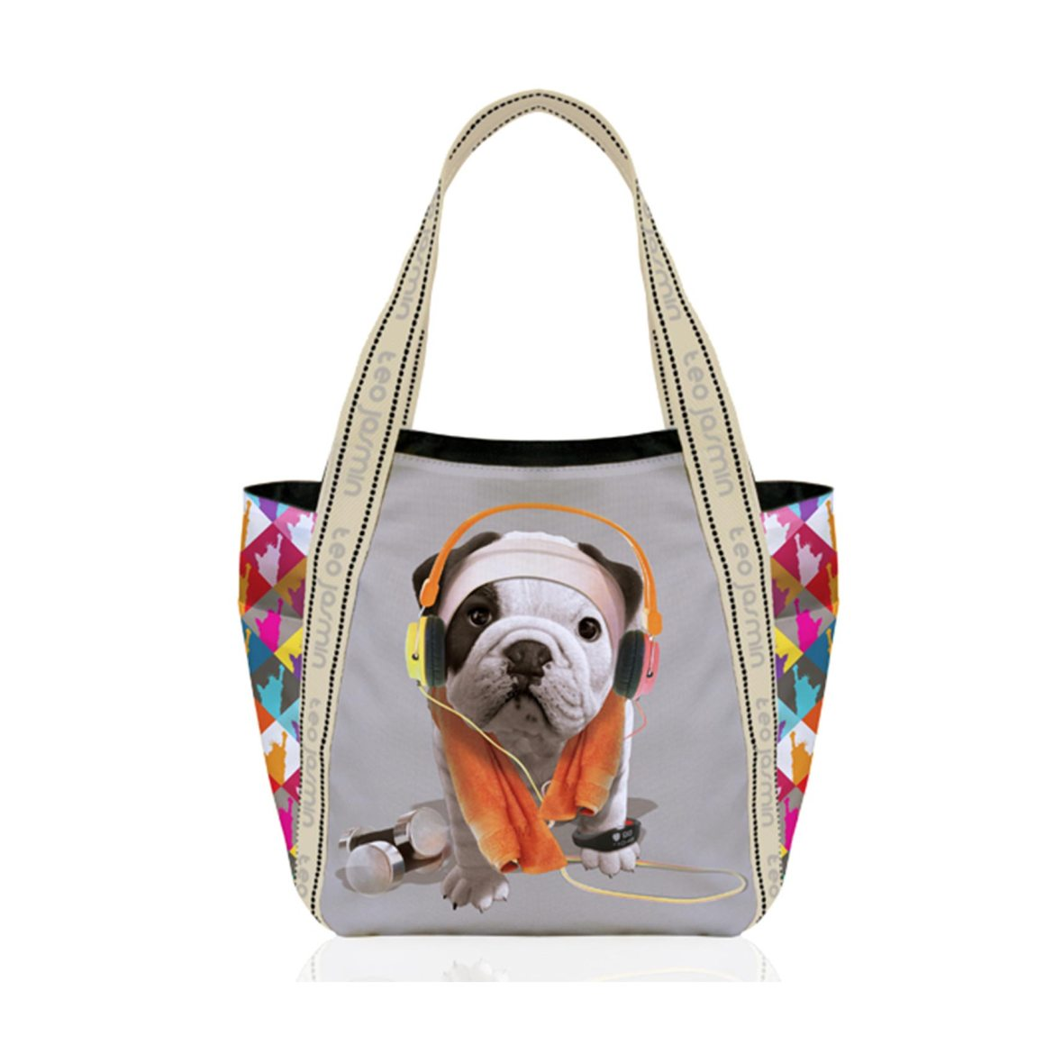 sac-a-main-chien-teo-jasmin-fitness-gris