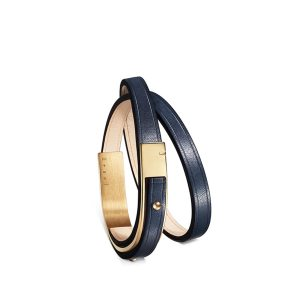 Bracelet-femme-u-turn-revolution-cuir-bleu-doré-ursul