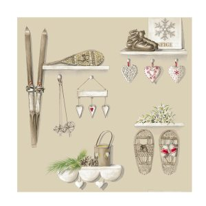 Tissu-noel-merry-bell-taupe-thevenon