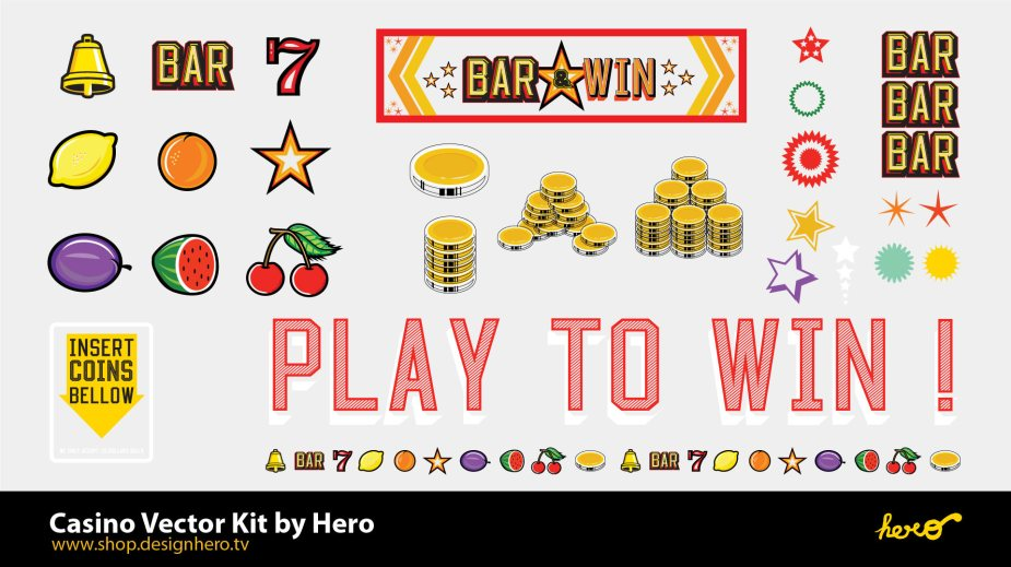 Casino Vector Kit. A full set of Casino's assets in different formats. EPS, PDF, AI (illustrator).