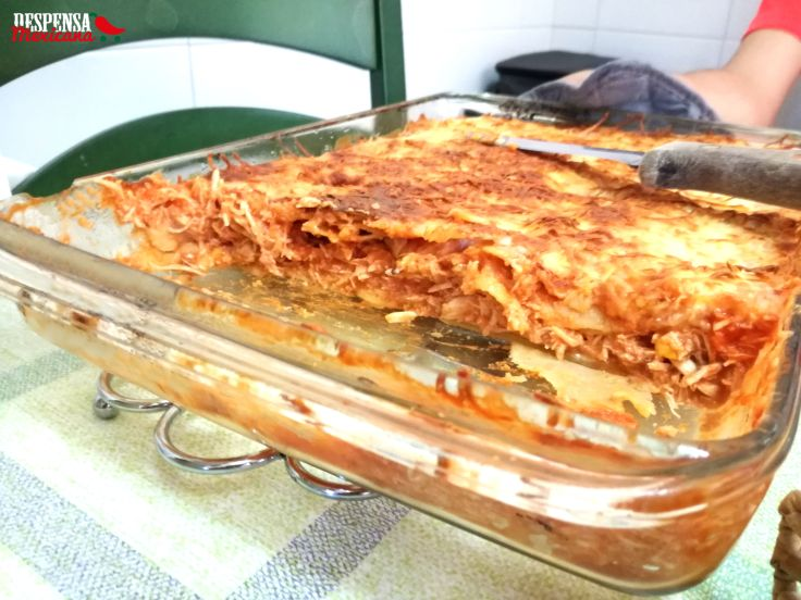 Receta lasaña azteca sin gluten