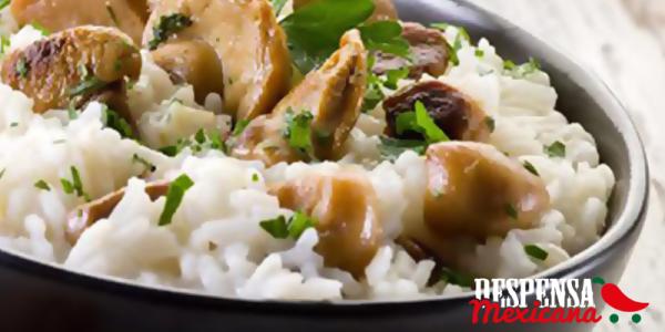 receta de arroz a la mexicana con champiñones