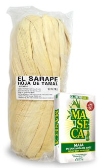 Tamales y harina de maíz Maseca
