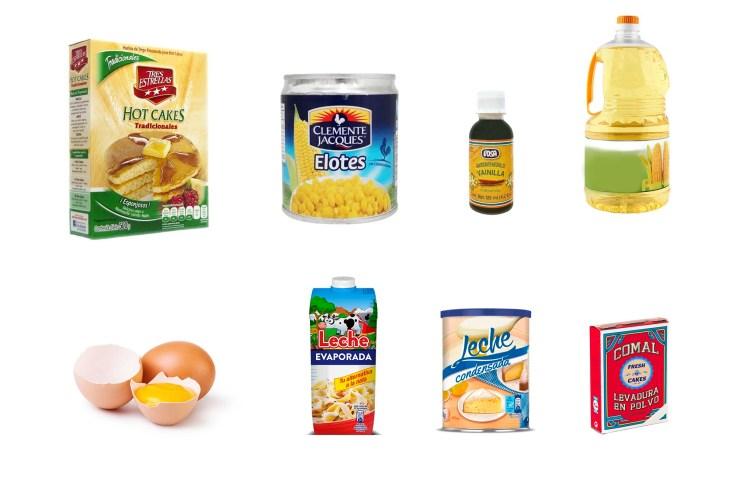 ingredientes cup cake de elote