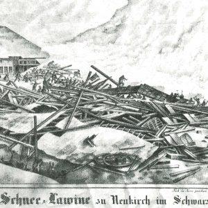 Schneelawine Neukirch Königenhof Schwarzwald