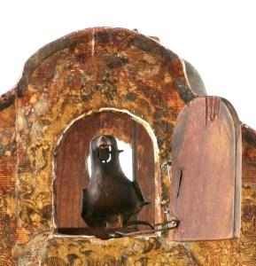 Vogel der ältesten Schwarzwälder Kuckucksuhr 1780-1790