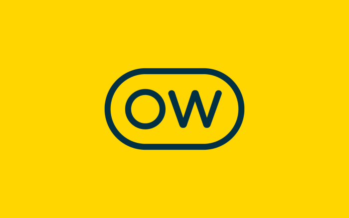 The new Optimal Workshop logo, in black on a yellow background.