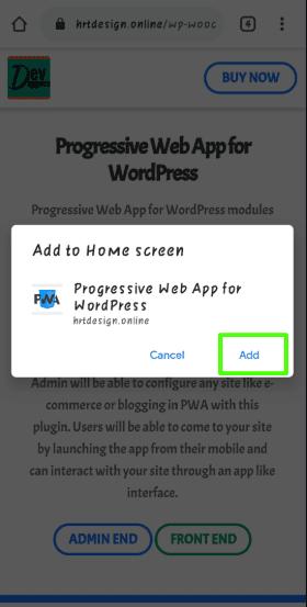 Progressive Web App (PWA) mobile step 2