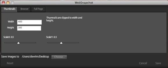 WebSnapshot Ayarlar