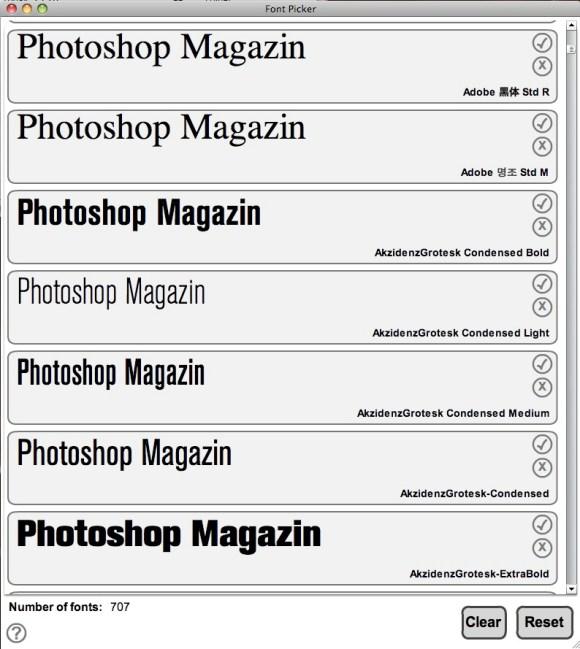 Font Picer