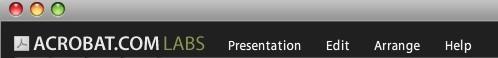 Presentations Menüler